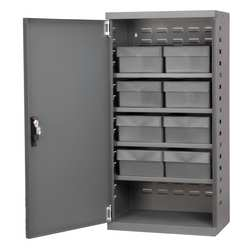 D5345 Cabinet Gray Steel Door 8 Gray Drawers