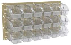 Louvered Panel 35-3/4x5/16x19 In Clear