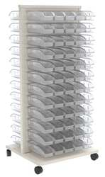 Mobile Louvered Rack 24-5/8 x 23 x 52 In