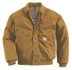 D5648 Flame-Resistant Bomber Jacket Brown M