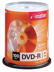 DVD-R Disc 4.70 GB 120 min 16x PK 100