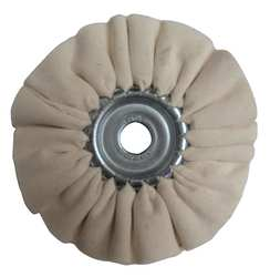 Buffing Wheel Pleated 4 In Dia.