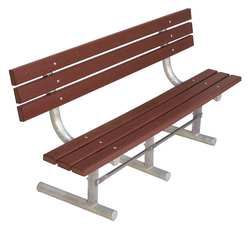 Park Bench Brown Recycled Plastic 72W