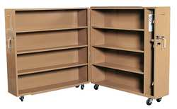 Jobsite Rolling Clam Shell Cabinet Tan