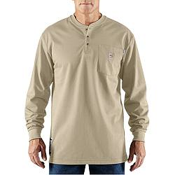 FR Long Sleeve Henley Shirt Sand 2XLT