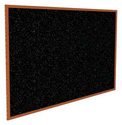Bulletin Board Recycled Rbbr Blk Indoors