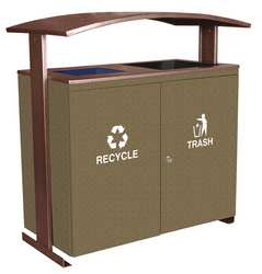 Recycling Receptacle 90 gal. 2 Stream