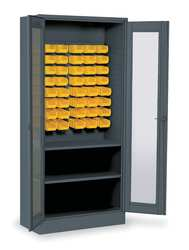 Visual Bin  Shelf Cabinet 48 Bins Gray
