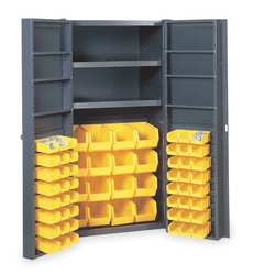 Bin Storage Cabinet 64 Bins 8 Shelves