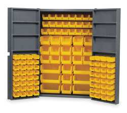 Bin Storage Cabinet 112 Bins 6 Shelves