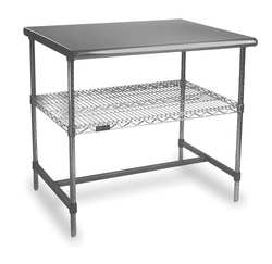 Adjustable Worktable 48 in W 30 in D