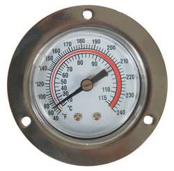 D3808 Analog Panel Mt Thermometer 40 to 240F