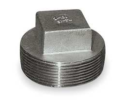 Square Head Plug 1 In 316 SS 3000 PSI