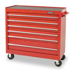 H2329 Rolling Cabinet 41 x 18 x 42 In Red