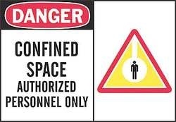 Danger Sign 7 x 10In R and BK/WHT ENG