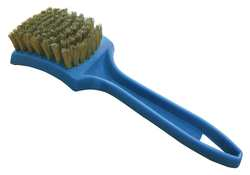 Tire Cleaning Brush Brass PPL 9-1/2In