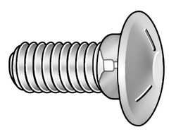Carriage Bolt Zinc 3/8-16x5 Pk 250