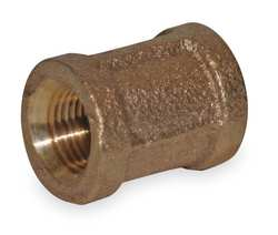 Coupling Red Brass 1/8 In 150 PSI