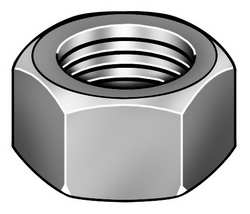 Hex Nut Heavy 1 1/2-6 2 3/8 In W