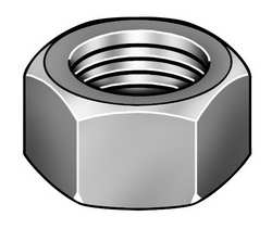 Hex Nut Finished 1/2-13 3/4In PK50