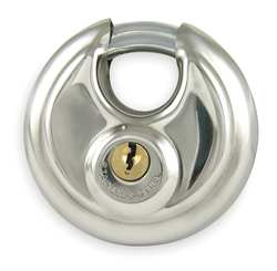 Padlock Disc SS Keyed Different