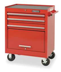 H2321 Rolling Cabinet 27 x 18 x 35 In Red