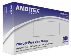 Disposable Gloves Vinyl S Clear PK100