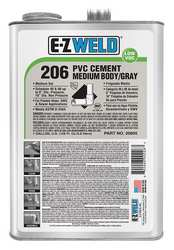Pipe Cement PVC Med Bodied 128 oz. Gray
