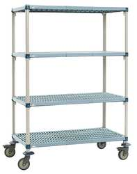Utility Cart Microban 48x24x68 4 Shelf