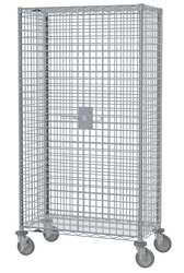 Wire Security Cart Chrome 41x22x68