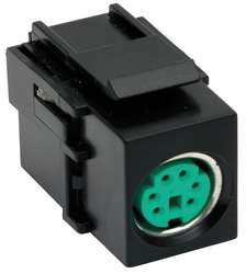 Snap Fit Connector Black Keystone