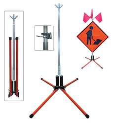 Sign Stand Roll-Up Steel 36 In.
