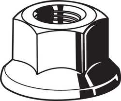 Hex Locknut Conical Flange 3/8-16 PK50