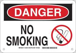 No Smoking Sign 7in. H x 10in. W Plastic