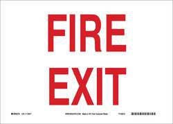 Fire Door Sign 10inHx14inW Eco-Frnd Papr