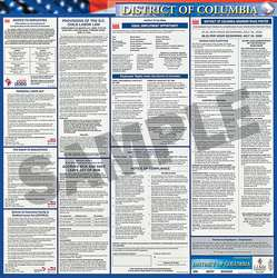 Labor Law Poster Kit DC Spanish 27 in W