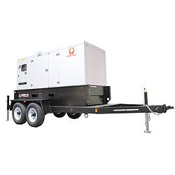 Towable Stndby Generator 66.6kW 128 gal.