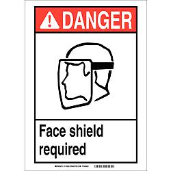 Danger Sign 10in.Hx7in.W Sticking Poly