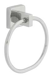 Towel Ring Single Silver