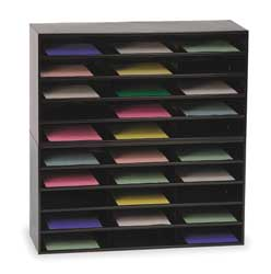 Literature Rack Compartment 30 Blk