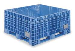 Bulk Container 48 In L 45 In W Blue