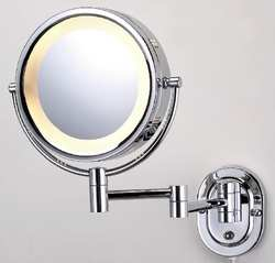 Lighted Makeup Mirror 8 In. Chrome 5X