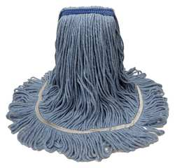 Wet Mop Ctton/Rayon/Plyster 1-1/4in Blue