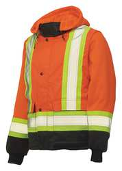Hi-Vis Zip-Off Sleeve Insulated Jckt XL