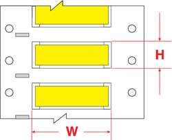 Wire Marking Sleeves 2 in W 1.66 in L