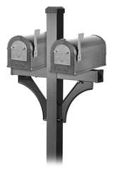 Rural Mailbox Heavy Duty Eagle Pewter