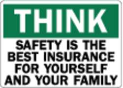 Safety Decal Reflective Vinyl 7inHx10inW