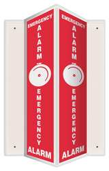 Sign Emergency Alarm 24x7-1/2 In.