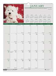 Monthly Wall Calendar 12x12 In Puppies