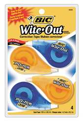 Correction Tape White Pk 4